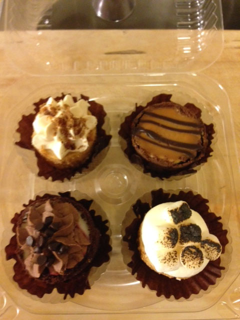Top left: Maple Bacon Top right: Chocolate Salted Caramel Bottom left: Dark Chocolate Raspberry Bottom right: Toasted Marshmallow