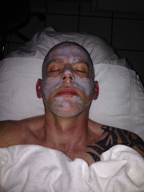 No, this is not my autopsy photo.  I'm getting a facial, damn it!