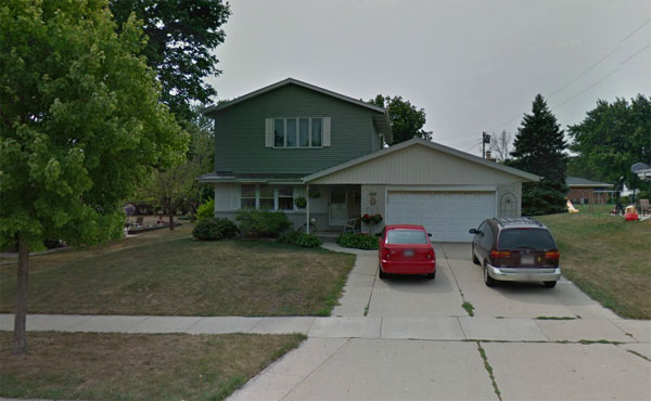 221 E. Sunset, Oak Creek, Wisconsin (a suburb of Milwaukee) from birth until about 6 months old.